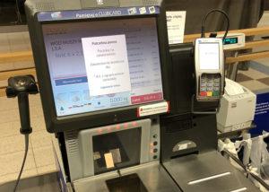 Kasy automatyczne w hipermarkecie